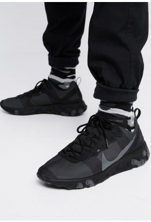 Nike REACT 55 - Sneakers laag black/dark greyNIKE202563