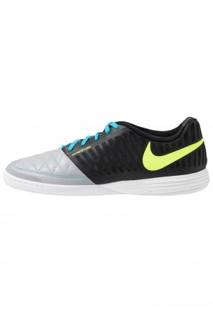Nike LUNAR GATO 2 IC - Zaalvoetbalschoenen black/volt/wolf grey/light current blueNIKE202828