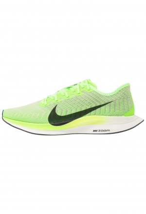 Nike ZOOM PEGASUS TURBO 2 - Hardloopschoenen neutraal electric green/black/bio beige/phantomNIKE203032