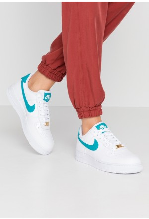 Nike AIR FORCE 1'07 - Sneakers laag white/teal/metallic goldNIKE101557