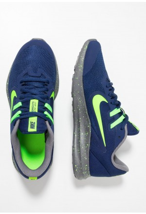 Nike DOWNSHIFTER 9 - Hardloopschoenen neutraal blue void/electric green/gunsmokeNIKE303768