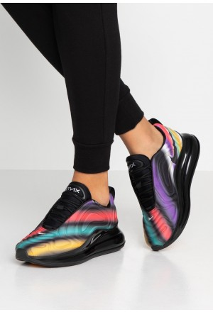 Nike AIR MAX 720 - Sneakers laag black/metallic silver/university gold/flash crimson/kinetic green/psychic purpleNIKE101379