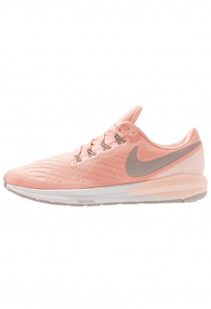 Nike AIR ZOOM STRUCTURE  - Stabiliteit hardloopschoenen pink quartz/pumice/washed coral/vast greyNIKE101664