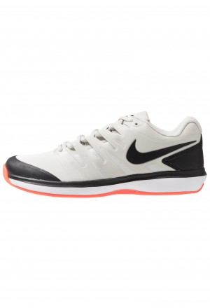Nike AIR ZOOM PRESTIGE CLY - Tennisschoenen voor kleibanen light bone/black/hot lava/whiteNIKE203184