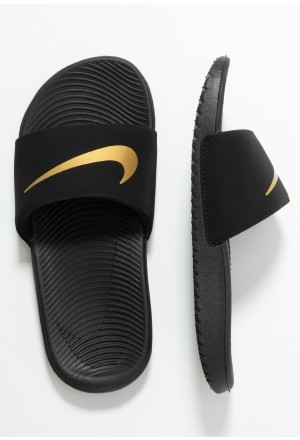 Nike KAWA SLIDE - Badslippers black/metallic goldNIKE303661