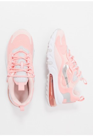 Nike AIR MAX 270 REACT GG GEL - Sneakers laag bleached coral/white echo pink/vast grey/metallic silverNIKE303372