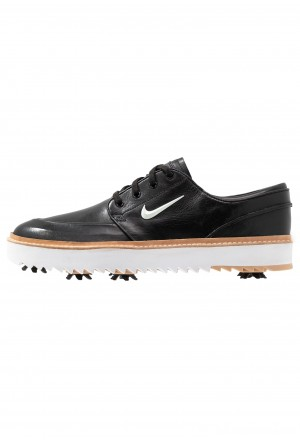 Nike Golf JANOSKI G TOUR - Golfschoenen black/metallic white/vachetta tan/medium brown/whiteNIKE202917