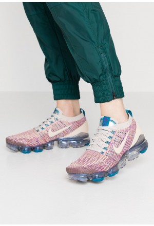 Nike AIR VAPORMAX FLYKNIT - Sneakers laag - desert sand/vivid purple/green abyss/pumice/gold desert sand/vivid purple/green abyss/pumice/goldNIKE101444