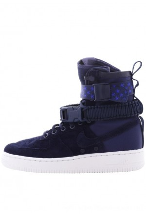 Nike W SF AF1 - Sneakers hoog midnight navy/midnight navy-whiteNIKE101594