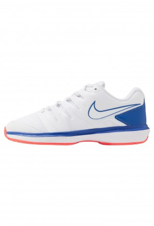 Nike AIR ZOOM PRESTIGE - Tennisschoenen voor alle ondergronden white/game royal/flash crimsonNIKE202993