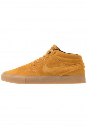 Nike SB ZOOM JANOSKI MID - Sneakers hoog wheat/black/light brown/photo blue/hyper pinkNIKE202496