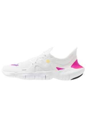 Nike FREE RN 5.0  - Loopschoen neutraal white/laser fuchsia/summit white/psychic purple/yellow pulse/blackNIKE101805