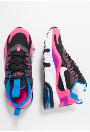 Nike AIR MAX 270 REACT - Instappers black/white/hyper pink/vivid purpleNIKE303465