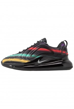 Nike AIR MAX 720 - Sneakers laag black/metallic silver/university gold/flash crimson/kinetic green/psychic purpleNIKE202500