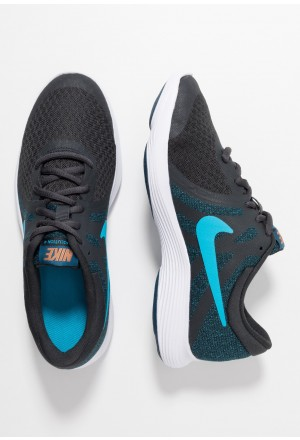 Nike REVOLUTION 4 - Hardloopschoenen neutraal off noir/light current blue/blue force/metallic copperNIKE303591