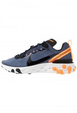 Nike REACT 55 SE - Sneakers laag midnight navy/black/total orange/summit whiteNIKE202339