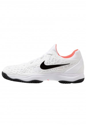 Nike AIR ZOOM CAGE - Tennisschoenen voor kleibanen white/black/bright crimsonNIKE203112