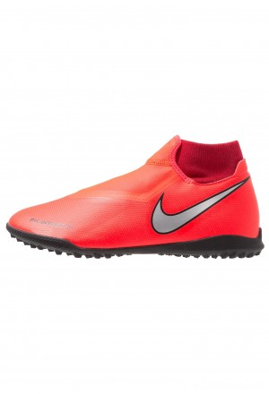 Nike PHANTOM OBRAX 3 ACADEMY DF TF - Voetbalschoenen voor kunstgras bright crimson/metalic silver/university red/blackNIKE202911