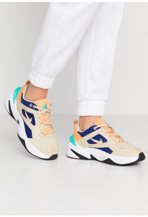 Nike M2K TEKNO - Sneakers laag desert ore/deep royal blue/fuel orange/hyper jade/blackNIKE101426