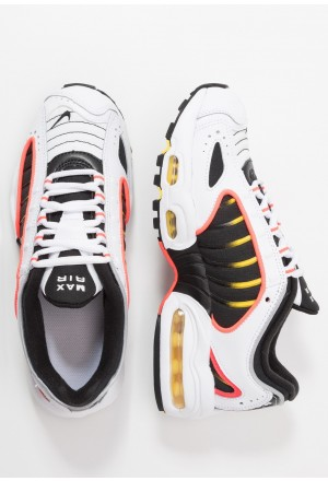 Nike AIR MAX TAILWIND - Sneakers laag white/black/bright crimson/chrome yellowNIKE303205