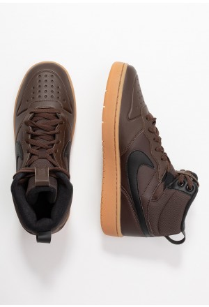 Nike COURT BOROUGH MID  - Sneakers hoog baroque brown/black/medium brownNIKE303267