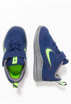 Nike DOWNSHIFTER 9 RW TDV - Hardloopschoenen neutraal blue void/electric green/gunsmokeNIKE303738
