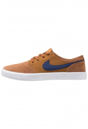 Nike SB PORTMORE II SOLAR - Skateschoenen light british tan/blue void/black/monarchNIKE202489