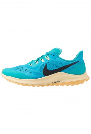 Nike AIR ZOOM PEGASUS 36 TRAIL - Trail hardloopschoenen light current blue/oil grey/tealNIKE101785