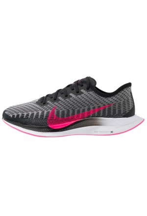 Nike ZOOM PEGASUS TURBO 2 - Hardloopschoenen neutraal black/pink blast/atmosphere grey/whiteNIKE203031