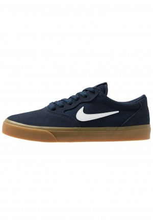 Nike SB CHRON SLR - Sneakers laag obsidian/white/light brownNIKE202241