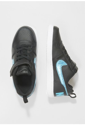 Nike COURT BOROUGH LOW - Sneakers laag black/light current blue/whiteNIKE303490