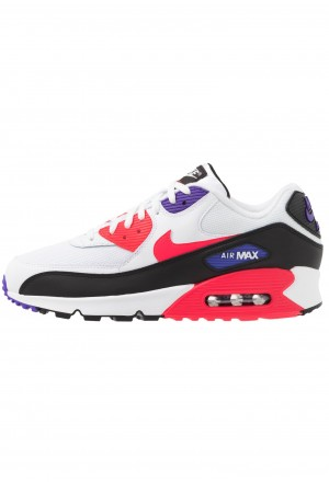 Nike AIR MAX 90 ESSENTIAL - Sneakers laag white/red orbit/psychic purple/blackNIKE202614