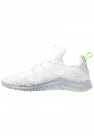 Nike HYPERFLORA FREE TR ULTRA - Sportschoenen white/metallic platinum/pure platinum/electric greenNIKE101762