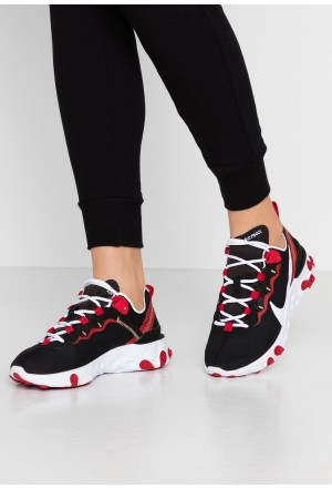 Nike REACT 55 - Sneakers laag black/white/gym red/metallic goldNIKE101341