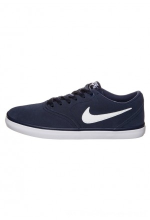 Nike SB CHECK SOLARSOFT - Sneakers laag - midnight navy/white midnight navy/whiteNIKE202667