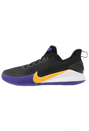 Nike MAMBA FOCUS - Basketbalschoenen black/amarillo/field purple/whiteNIKE203135