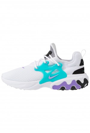 Nike REACT PRESTO - Sneakers laag white/night maroon/black/atomic violet/tealNIKE202449
