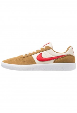 Nike SB TEAM CLASSIC - Skateschoenen golden beige/university red/white/light creamNIKE202532