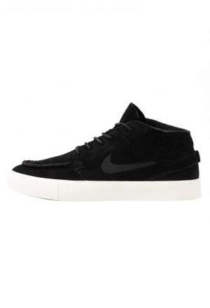 Nike SB ZOOM JANOSKI MID CRAFTED - Sneakers hoog black/pale ivoryNIKE202444