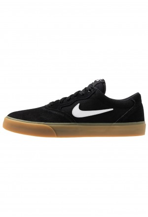 Nike SB CHRON SLR - Sneakers laag black/white/light brownNIKE202236