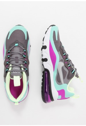 Nike AIR MAX 270 REACT - Sneakers laag gunsmoke/reflect silver/aurora green/hyper violet/barely volt/thunder greyNIKE303254