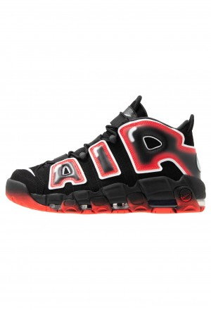 Nike AIR MORE UPTEMPO  - Sneakers hoog black/white/laser crimsonNIKE202394