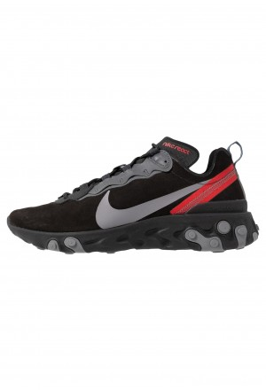 Nike REACT ELEMENT 55 - Sneakers laag off noir/gunsmoke/black/universe redNIKE202330