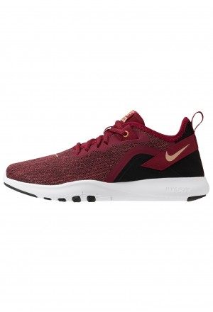 Nike FLEX TRAINER 9 - Hardloopschoenen competitie team red/metallic copper/black/whiteNIKE101680