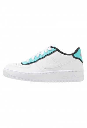 Nike AIR FORCE 1 LV8 - Sneakers laag white/aqua-black/laser fuchsiaNIKE303501