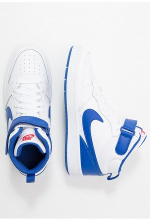 Nike COURT BOROUGH MID - Sneakers hoog white/game royal/university redNIKE303244