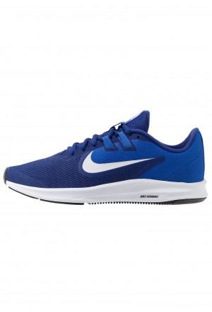 Nike DOWNSHIFTER 9 - Hardloopschoenen neutraal deep royal blue/white/game royal/blackNIKE202750