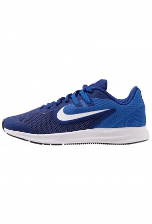 Nike DOWNSHIFTER 9 - Hardloopschoenen neutraal deep royal blue/white/game royal/blackNIKE303574