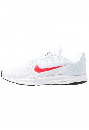 Nike DOWNSHIFTER  - Hardloopschoenen neutraal white/red orbit/half blue/blackNIKE101649