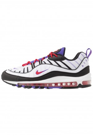 Nike AIR MAX 98 - Sneakers laag white/black/psychic purple/university redNIKE202322